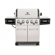 Broil King Regal S590 Pro Stainless Steel 5-Burner Natural Gas Grill with 1 Side Rotisserie Burner