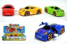 Na 1875778 Wind Up Toy Racing Car44; Assorted Colors - Case of 144