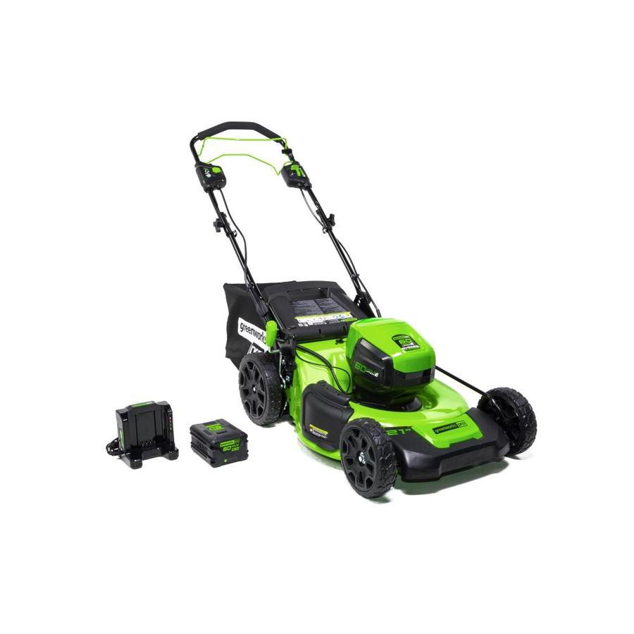 Greenworks Pro 60 Volt Brushless Lithium Ion 21 In Self Propelled Cordless Electric Lawn Mower Battery Included