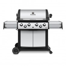 Broil King Sovereign Xl Stainless Steel, and Black 4-Burner (50,000-BTU) Natural Gas Grill with Side and Rotisserie Burners