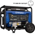 Westinghouse 3600 Watt Portable Gas Powered Generator with RV Ready TT-30R 30 Amp Receptacle and Wheel Kit