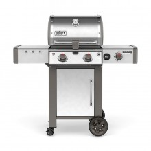 Weber Genesis II LX S-240 Stainless Steel 2-Burner Natural Gas Grill with 1 Side Burner