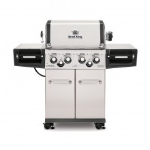 Broil King Regal S490 Pro Stainless Steel 4-Burner Liquid Propane Gas Grill with 1 Side Rotisserie Burner