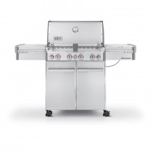Weber Summit 4-Burner Liquid Propane Gas Grill with 1 Side Burner, Rotisserie Burner and Integrated Smoker Box