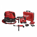 Milwaukee 8960-20 With 5261-DE & 2715-22 8 Gallon Dust Extractor Silica OSHA Starter Kit - SDS Plus Drilling