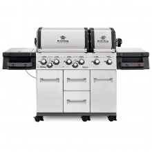 Broil King Imperial XLS Stainless Steel 6-Burner Natural Gas Grill with 1 Side Rotisserie Burner