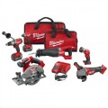 Milwaukee 2896-26 M18 18V FUEL 6-Tool Cordless Combo Kit (5 Ah)