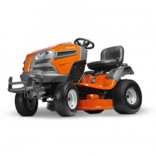 Husqvarna YT42DXL 22-HP V-twin Dual Hydrostatic 42-in Riding Lawn Mower with Mulching Capability (Kit Sold Separately)